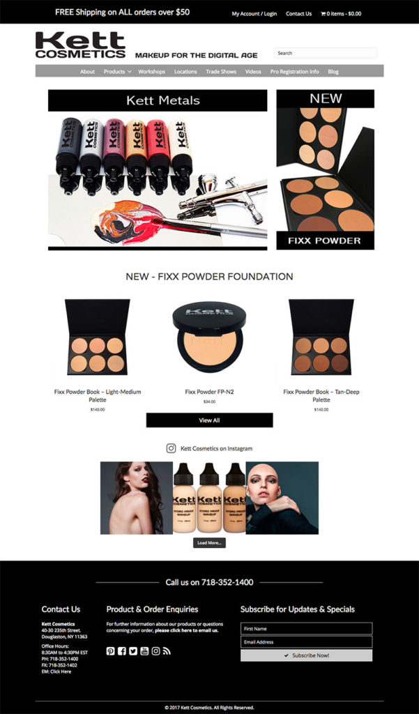 Kett Cosmetics New York - WordPress