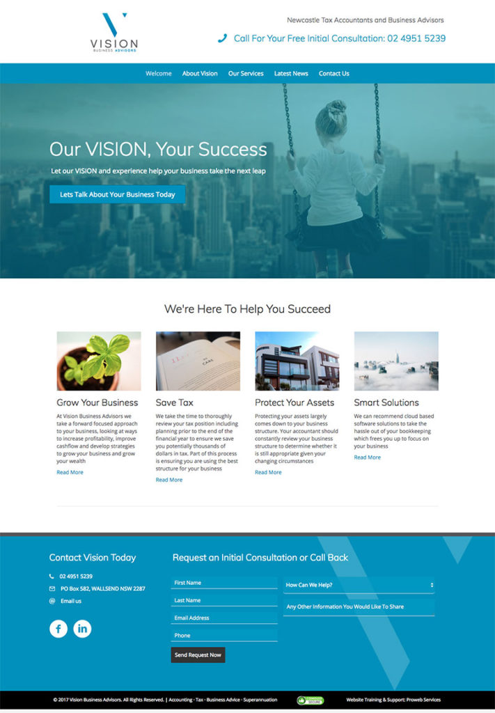 Vision Business Advisors - WordPress